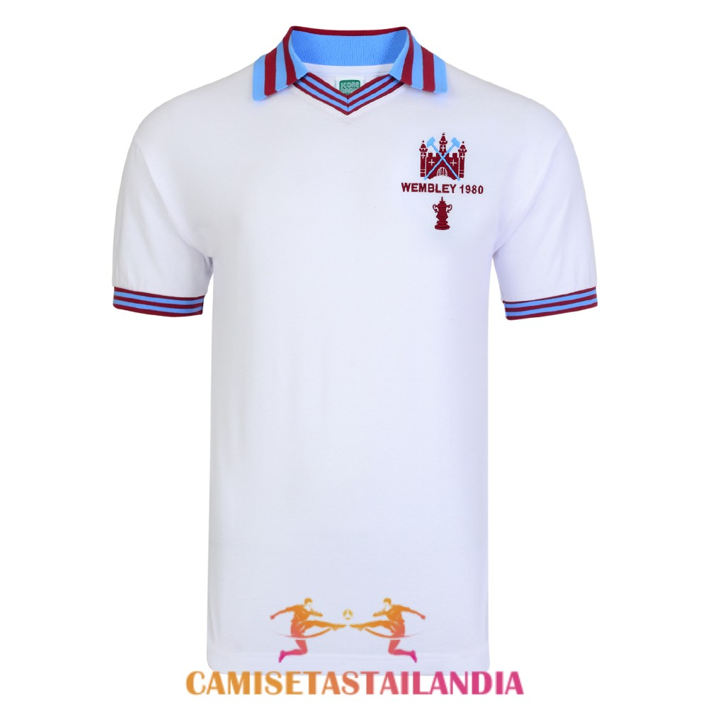 camiseta blanco west ham united retro champions 1980