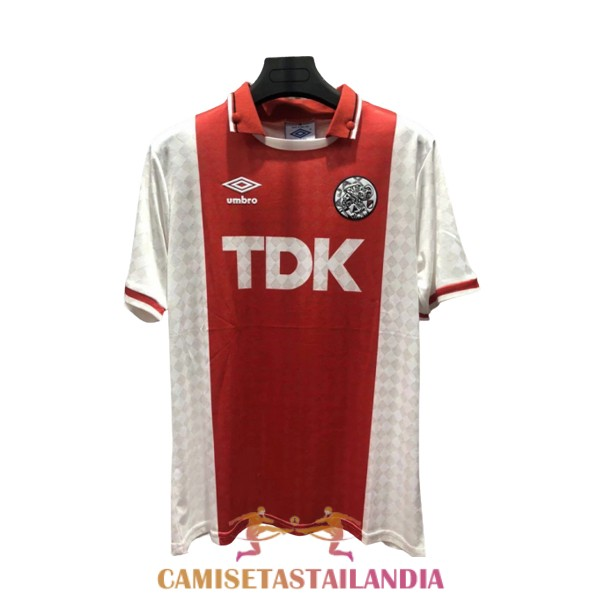 camiseta primera ajax retro 1988-1990