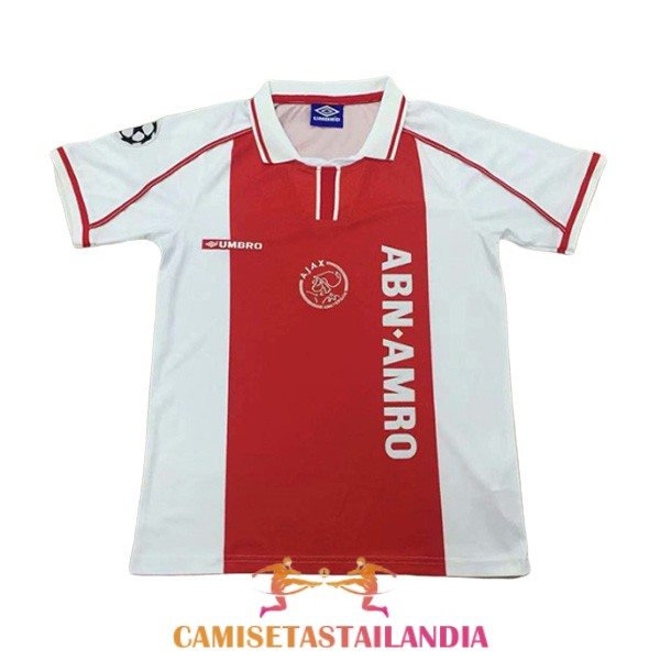 camiseta primera ajax retro 1998