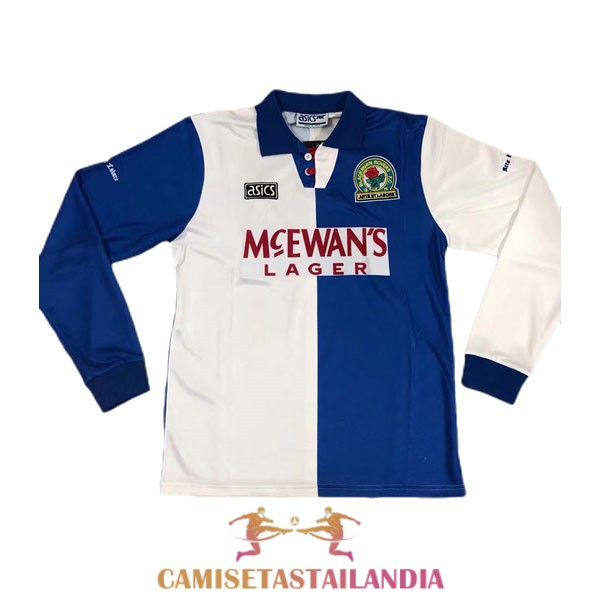 camiseta primera blackburn rovers manga larga retro 1994-1995
