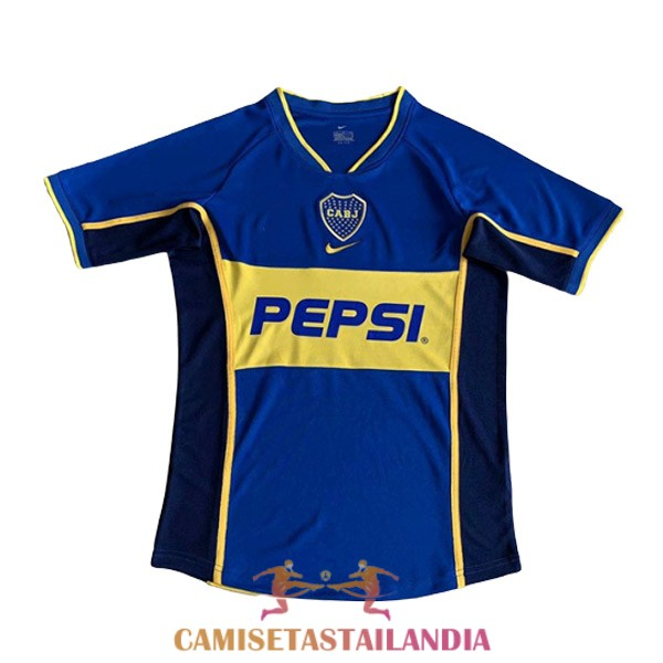 camiseta primera boca juniors retro 2002