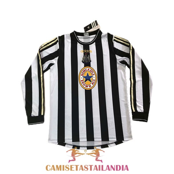 camiseta primera newcastle united manga larga retro 1997-1999