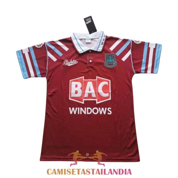 camiseta primera west ham united retro 1991-1992