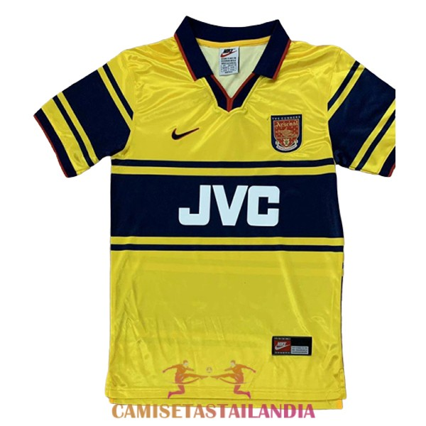 camiseta segunda arsenal retro 1997-1999