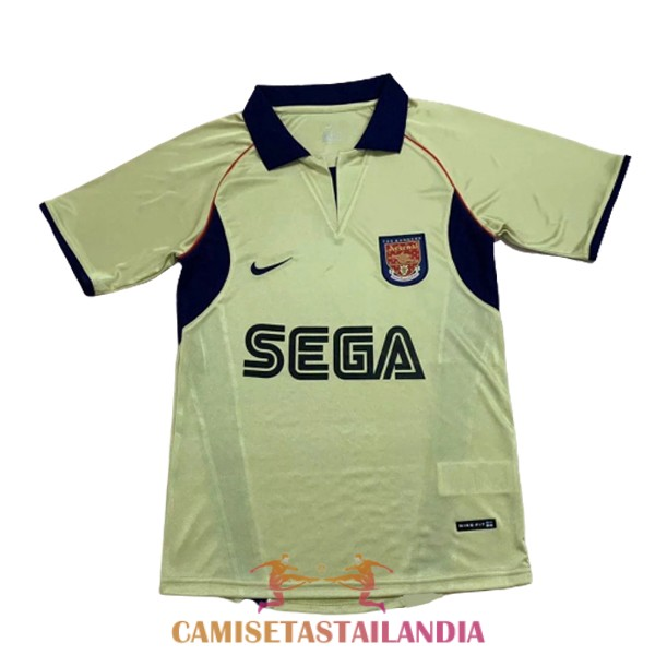 camiseta segunda arsenal retro 2001-2002