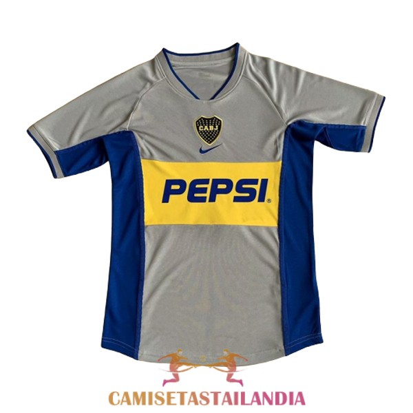 camiseta tercera boca juniors retro 2002