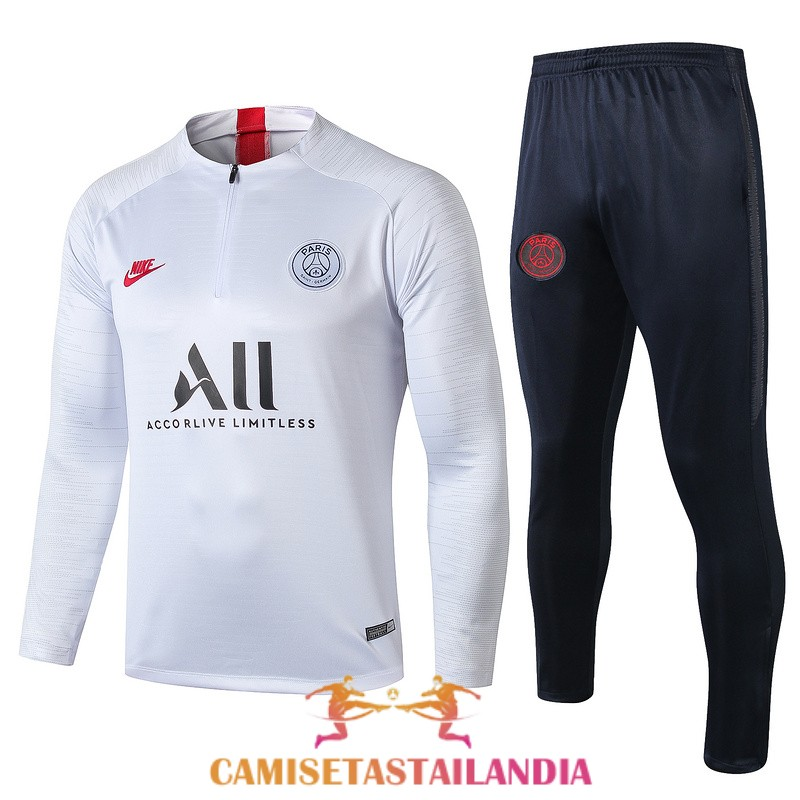 chandal blanco paris saint germain cremallera 2019-2020