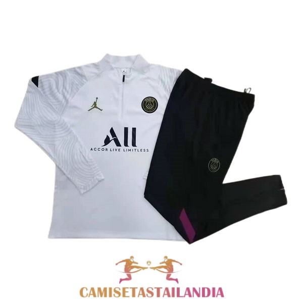 chandal blanco paris saint germain cremallera 2020-2021