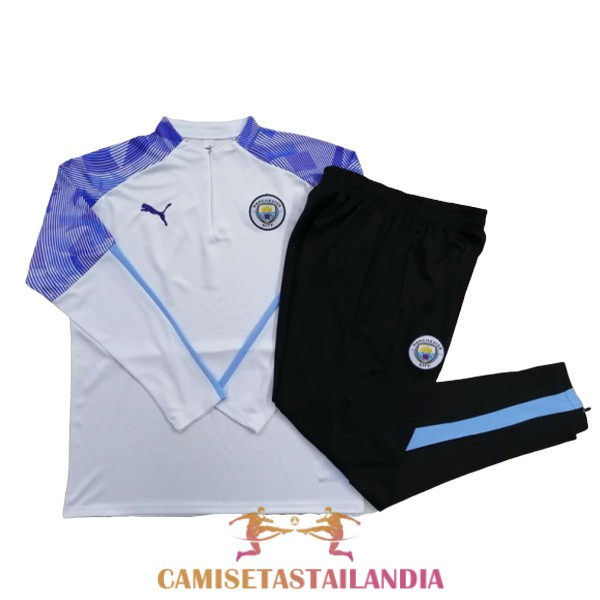 chandal blanco purpura manchester city cremallera 2020-2021