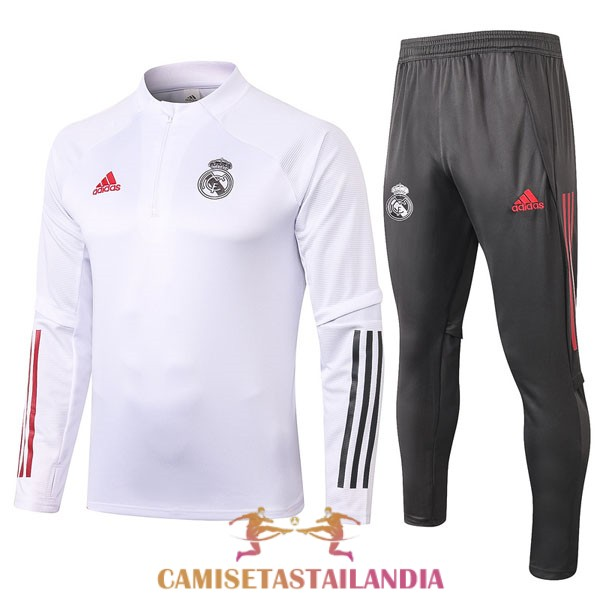 chandal blanco real madrid cremallera 2020-2021