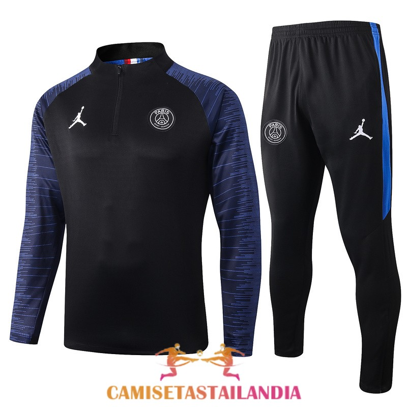 chandal negro azul paris saint germain jordan cremallera 2019-2020