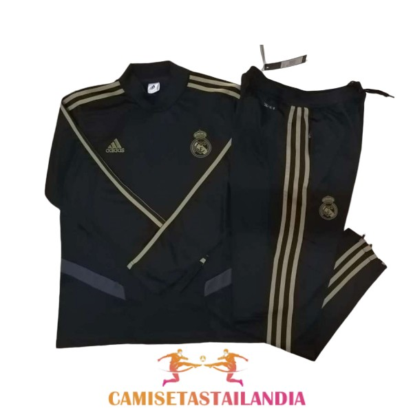 chandal negro real madrid cuello alto 2019-2020