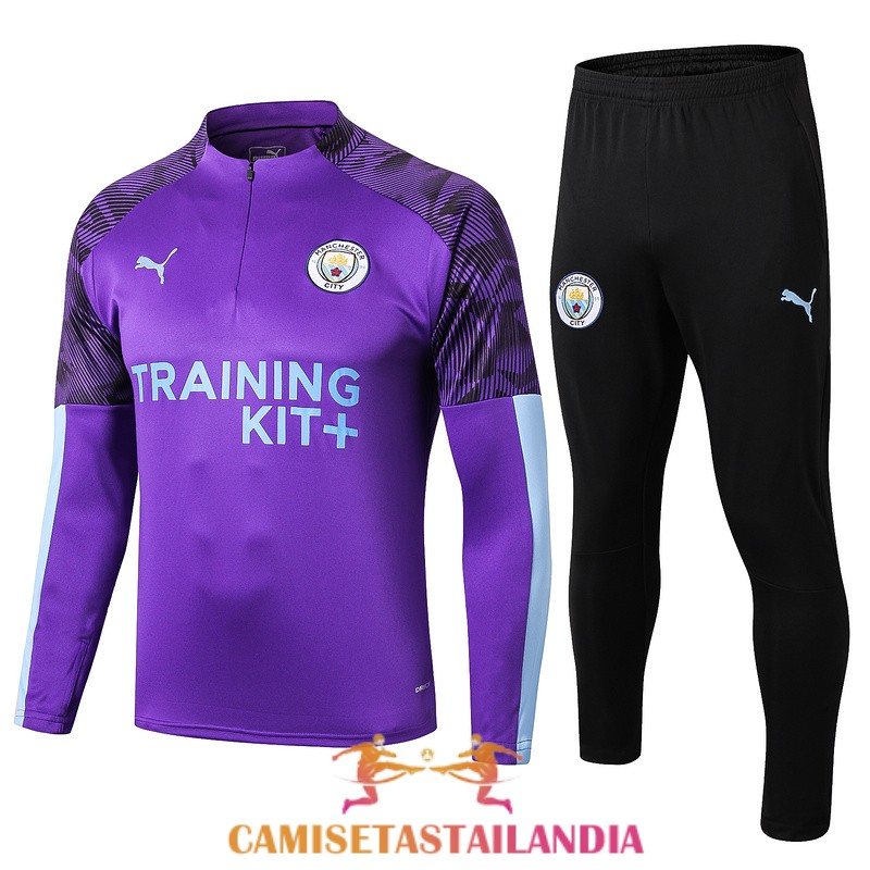 chandal purpura manchester city cremallera 2019-2020