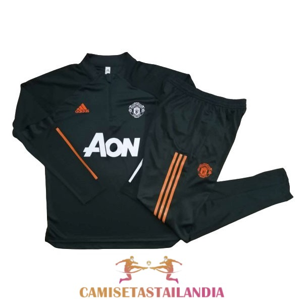 chandal verde oscuro manchester united cremallera 2020-2021
