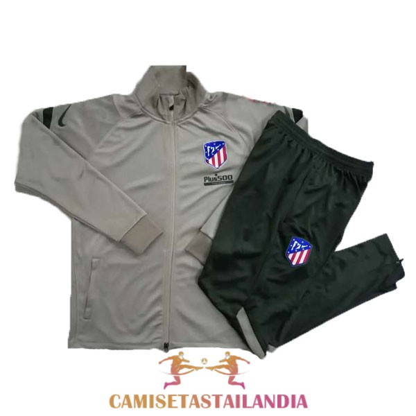 chaqueta marron atletico madrid 2020-2021